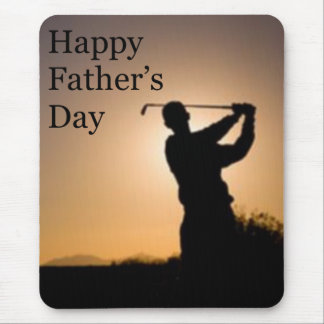 Happy Fathers Day Golf Mouse Pad