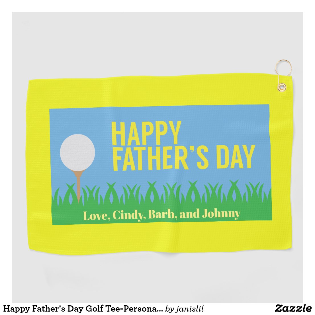 Happy Father's Day Golf Tee-Personalized Golf Towel
