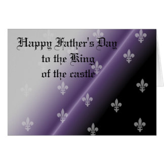 Happy Father's Day gothic royalty Greeting Card