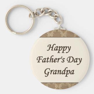 Happy Father's Day Grandpa Basic Round Button Keychain