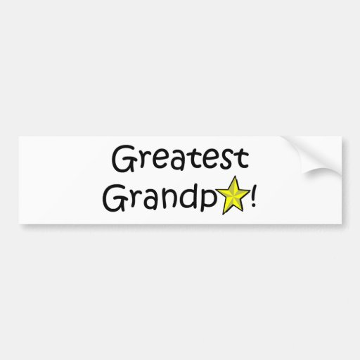 Happy Father's Day, Grandpa! Car Bumper Sticker