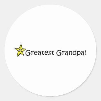 Happy Father's Day, Grandpa! Classic Round Sticker