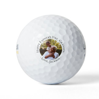 Happy Father's Day Grandpa Photo Golf Balls