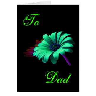 Happy Father's Day Green Blue Daisy III Card