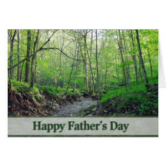 Happy Father's Day Green Greeting Card