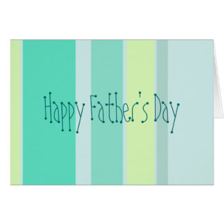 Happy Father's Day - Green Yellow Stripes Card