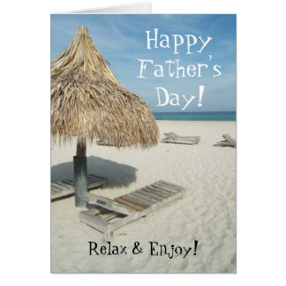 Happy Father's Day Greeting Card, Beach Cabana