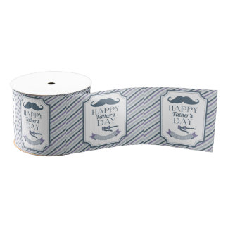 Happy Father's Day Grosgrain Ribbon
