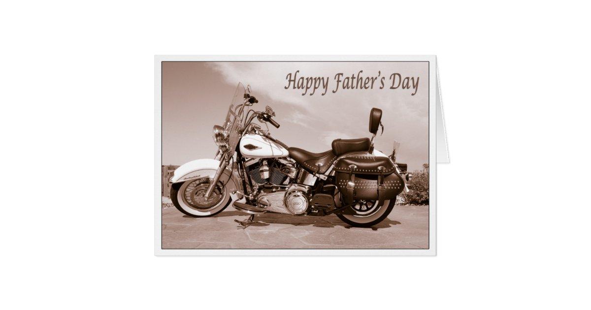 Happy Father\'s Day Harley Davidson Card | Zazzle.com