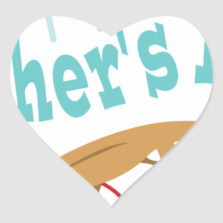 Happy Fathers Day Heart Sticker