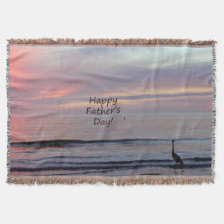 Happy Father's Day Heron Beach Blanket