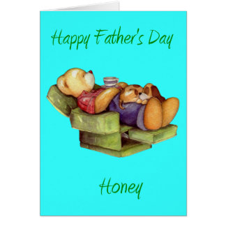 Happy father's Day Honey from wife/Girlfriend Card