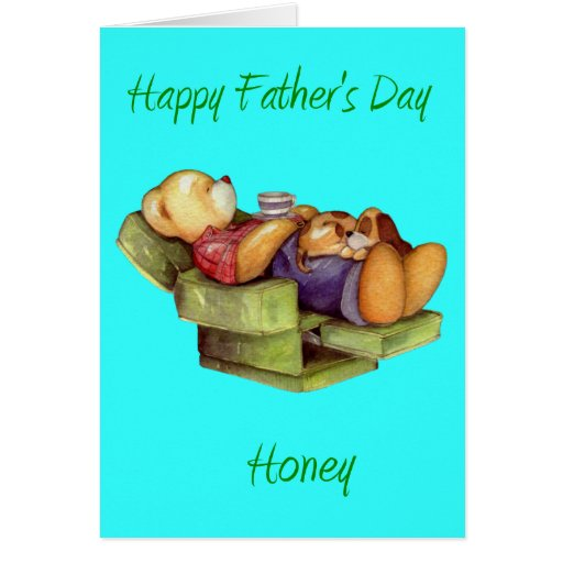 Happy father's Day Honey from wife/Girlfriend Greeting Card