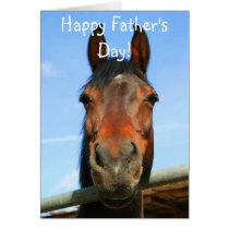 Happy Father's Day Horse Greeting Card