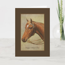 Happy Father's Day Horse Portrait Card