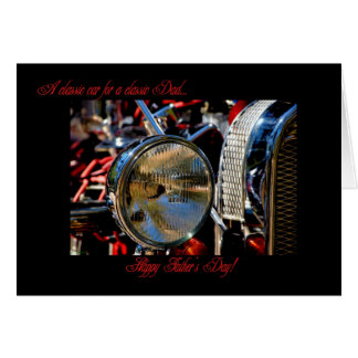 HAPPY FATHER'S DAY- HOT ROD CLASSIC CAR GREETING CARD