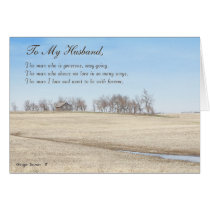 Happy Father's Day Husband, Old Prairie House #1H Card