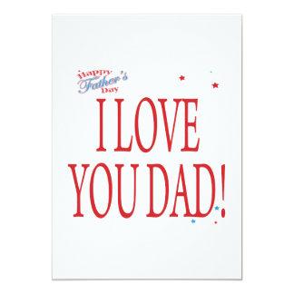 Happy Fathers Day 5x7 Paper Invitation Card