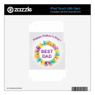 Happy fathers day iPod touch 4G decals