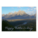 Happy Father's Day Jackson Hole Mountains Card