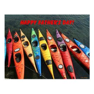 Happy Father's Day, Kayaks Postcard