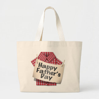 Happy Fathers Day ! Large Tote Bag