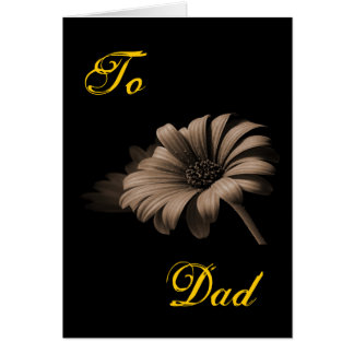 Happy Father's Day Light Coca Daisy III Greeting Card