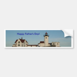 Happy Father's Day, Lighthouse Car Bumper Sticker