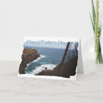 Happy Father's Day Lighthouse from Daughter Thank You Card