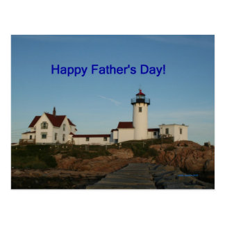 Happy Father's Day, Lighthouse Postcard
