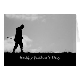 Happy Father's Day Like a Father to Me Silhouette Card
