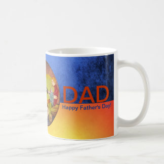Happy Father's Day love you fishing vintage mugs