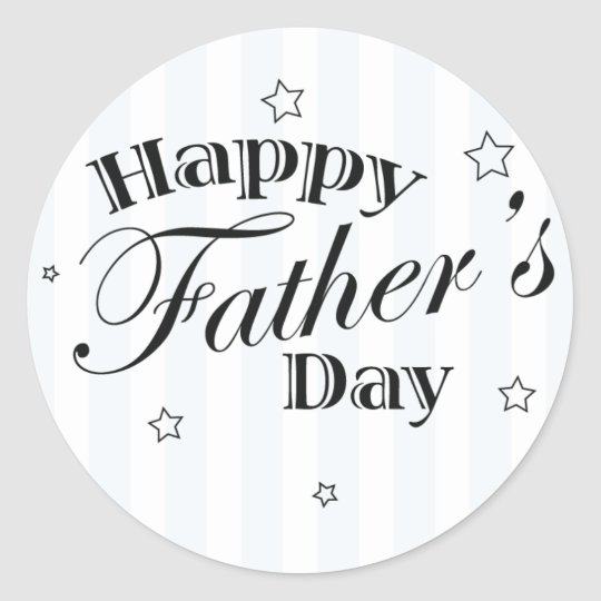 Happy Father's Day Message Classic Round Sticker