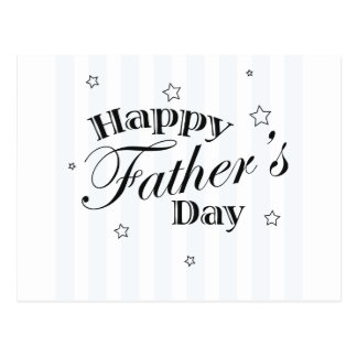 Happy Father's Day Message Postcard