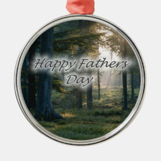 Happy Fathers Day Metal Ornament
