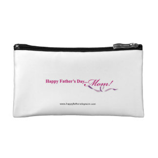 Happy Fathers Day Mom Clutch Makeup Bag