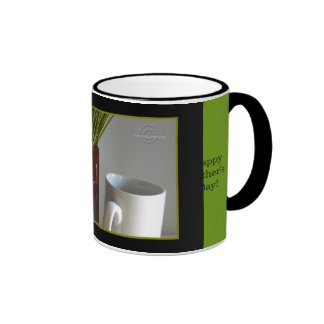 Happy Father's Day Mug-Burgundy Vase, Grasses, Cup
