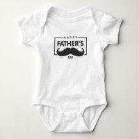 Happy Father's Day Mustache | Bodysuit