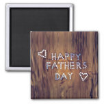 Happy Father's Day Nails on Wood Graphic Refrigerator Magnet