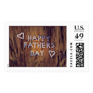 Happy Father's Day Nails on Wood Graphic Postage