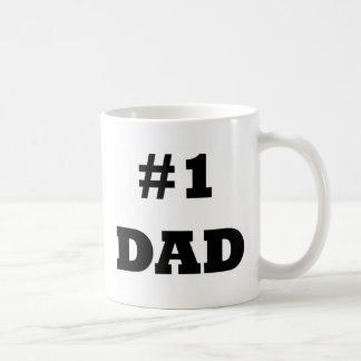 Happy Father's Day - Number 1 Dad - #1 Dad Coffee Mug