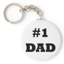 Happy Father's Day - Number 1 Dad - #1 Dad Keychain