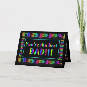Happy Father's Day One in A Million Rainbow zazzle_card