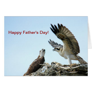 Happy Fathers Day osprey flapping wings Card