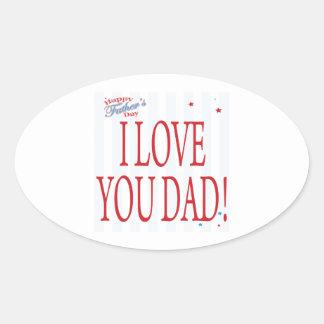 Happy Fathers Day Oval Sticker