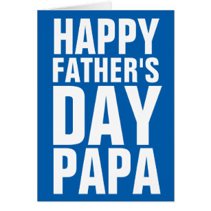 Happy fathers day dad cards greeting photo cards zazzle happy fathers day papa greeting card for dad m4hsunfo