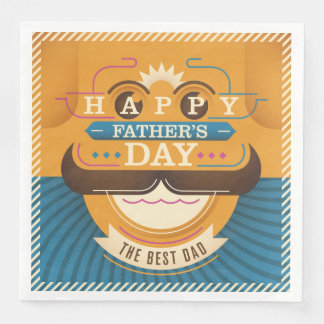 Happy Father's Day Paper Dinner Napkin