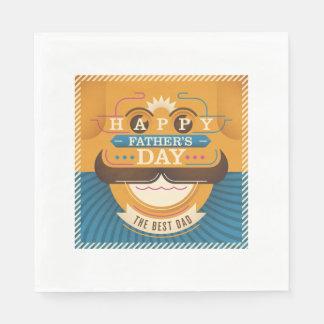 Happy Father's Day Paper Napkin