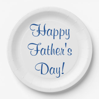 Happy Father's Day Paper Plates