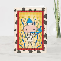 Happy Father's Day - Party Cow Card